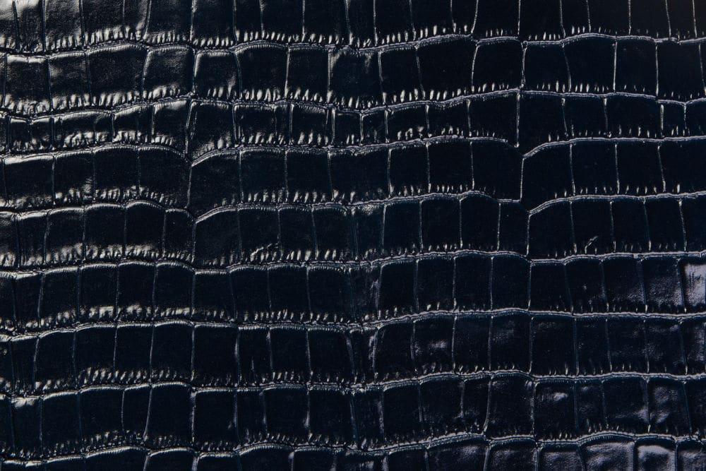 Krokoleder dunkelblau