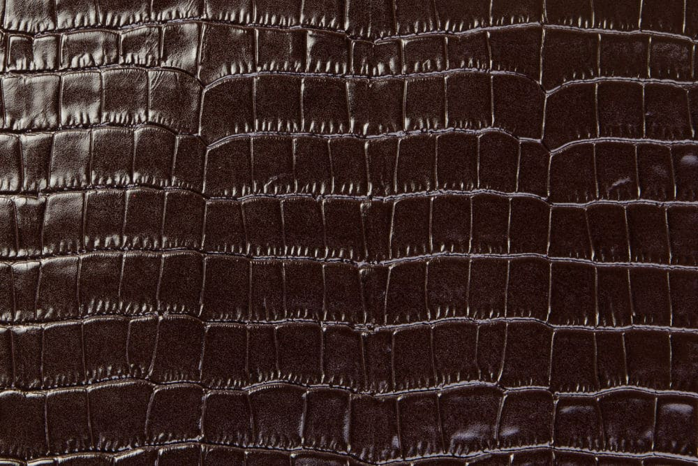Krokoleder dunkelbraun