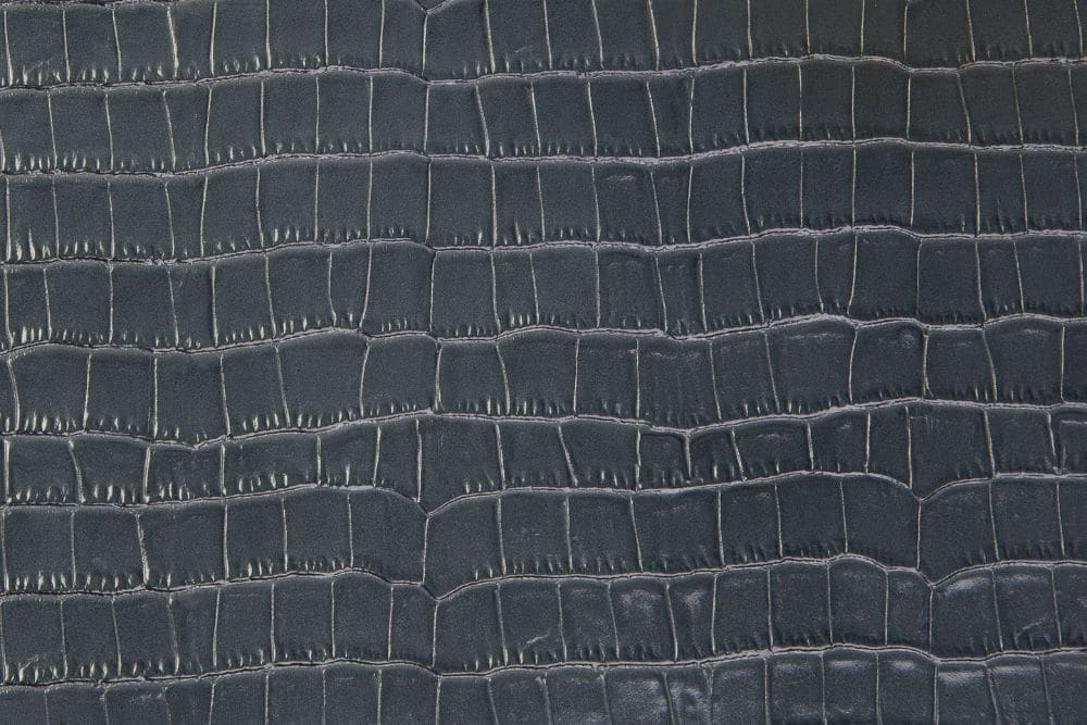 Krokoleder grau