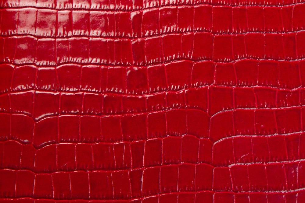 Krokoleder rot