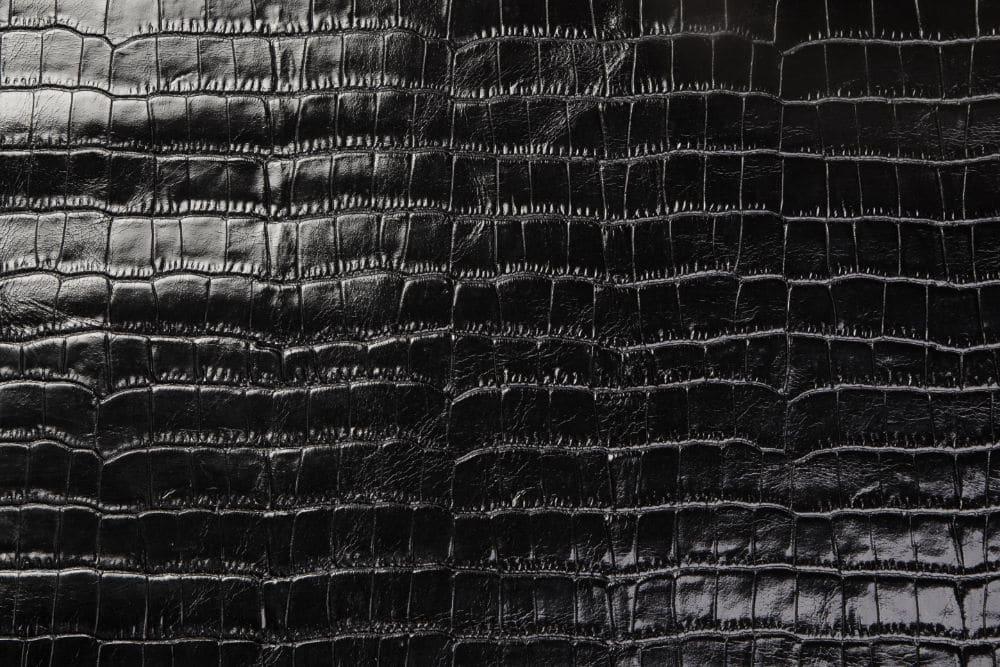 Krokoleder schwarz